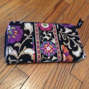 Vera Bradley Zip Wallet. Suzani Pattern